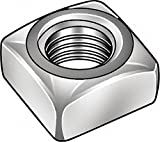 7/8''-9 Square Nut - Regular, Zinc Plated Finish, Low Carbon Steel Low Carbon, PK5 - Pack of 5