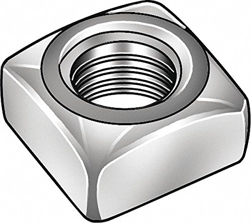 #10-24 Square Nut - Regular, Zinc Plated Finish, Low Carbon Steel Low Carbon, PK100 - Pack of 10 by FABORY