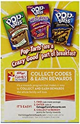Kellogg\'s Blueberry Pop Tarts Unfrosted, 1 Box = 8 Pastries, (2 Pack)