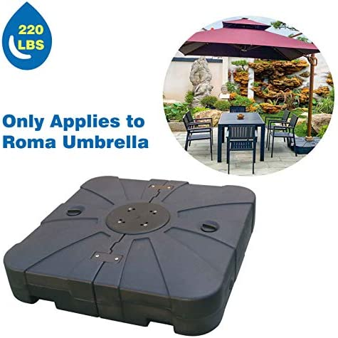 ABCCANOPY Super Heavy Base Roma Umbrella Base only Suit Roma Umbrella Sand Water Filled 220lb