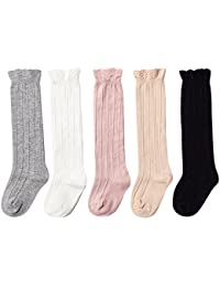 Baby Girls Boys Uniform Knee High Socks Tube Ruffled...