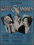 MY SONG Henderson & Brown GEORGE WHITE'S SCANDALS 1931 Theater Sheet Music
