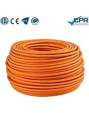 LW Electronic Câble réseau Gigabit haute qualité S / FTP PIMF 1000MHz Cat7 4x2xAWG23 LSZH Câble d'installation blindé 100m Orange