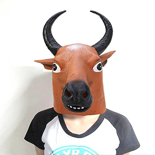 Funny Halloween Mask Artificial Buffalo Party Custume Cosplay (Funny Halloween Custumes)