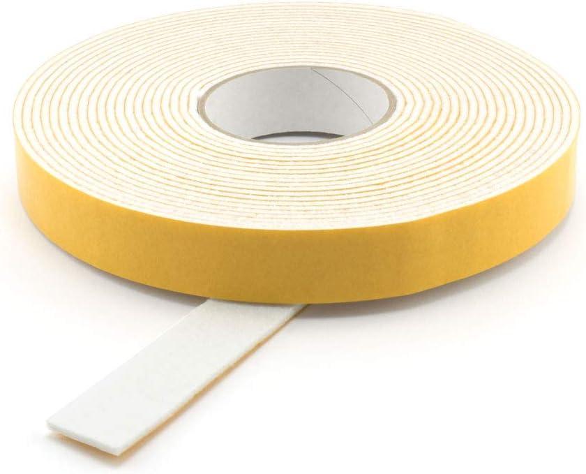 1 m Filzklebeband Meterware Breite GleitGut Filzband selbstklebend Weiss L/änge 25 mm St/ärke 3 mm Filzstreifen