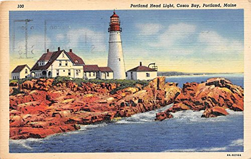 Casco Bay Portland Maine - Portland Head Light Casco Bay Portland Maine Postcard