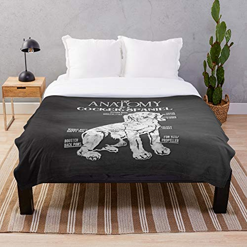 - Funny Dog-Lover Cocker Spaniel Anatomy Throw Blankets(30x40 in)