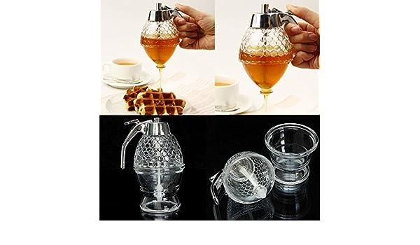 Amazon.com: 200ML Honeycomb Dispenser Acrylic Honey Pot Gravy Boats Crystal Syrup Dispenser: Wall Art