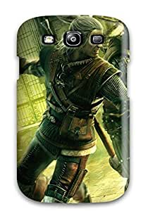 Premium QtGxWij9238XDCPK Case With Scratch-resistant/ The Witcher 2 Assassins Of Kings Case Cover For Galaxy S3