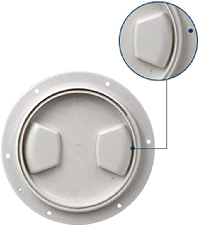 2X Marine Deck Plate White 6 /& 8 Inch Hatch Cover Twist Out Inspection Hatch for Boat Kayak Canoe Included 12 Screws