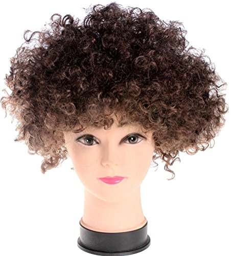 ACE SHOCK Clown Cosplay Wig Adults, Kids Synthetic Afro Halloween Costume Hair Funky Style -