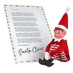 ebuygb Elfos sentado en estantes elfo con personalizado