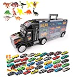 Toy Truck Transport Car Carrier - Toy Truck Includes 13/19/25/37 Toy Cars Accessories - Great Car...