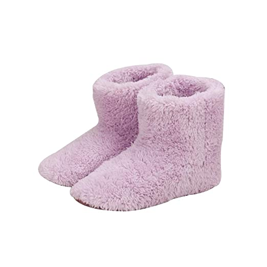LYXMY Calentador de pies de Invierno Zapatos de Calentamiento ...