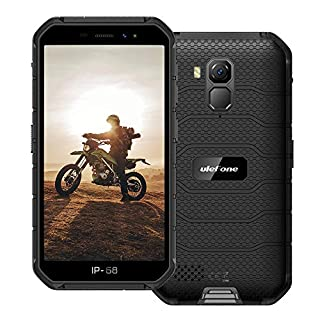"""Ulefone Armor X7 Pro (2020) 4G Rugged Cell Phones Unlocked, Android 10 Quad-core 4G+32GB ROM, 13MP+5MP Dual Camera 5.0"""" HD Screen 4000mAh Battery Rugged Smartphones, NFC, Face ID, GPS, WiFi -Black"""