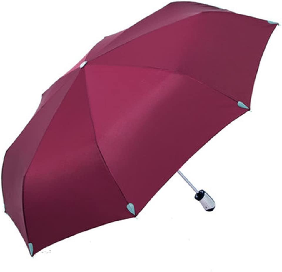 BiuTeFang Umbrellas Folding umbrella automatic umbrella solid color umbrella rain umbrella automatic umbrella 62x101cm