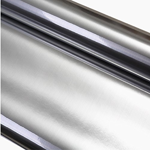 REDODECO Metal Look Contact Paper Film Vinyl Self Adhesive Waterproof Anti Greasy Counter Top Peel Stick Metallic Gloss Shelf Liner For Kitchen Cabinet,24inch By 78inch (WZ-S1)