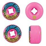 Santa Cruz Old Scool Skateboard Wheels 54mm Vomit Mini 97A Pink