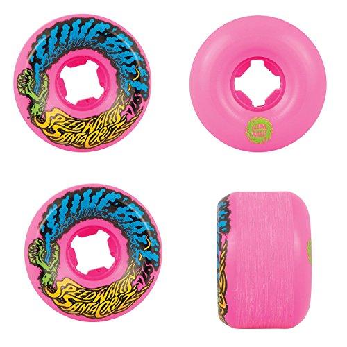 Santa Cruz Old Scool Skateboard Wheels 54mm Vomit Mini 97A Pink by Santa Cruz