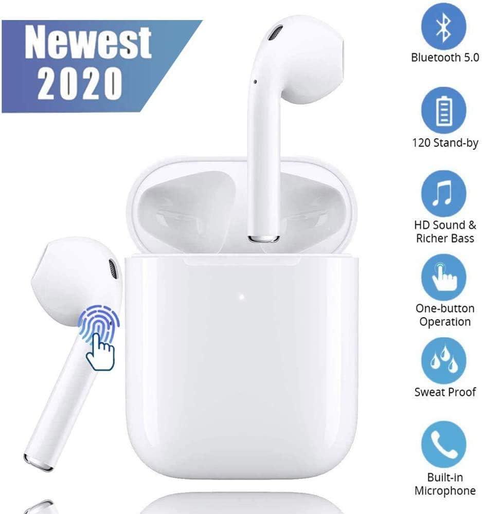 Auriculares Bluetooth, Auriculares inalámbricos Bluetooth Headphones Estéreo In-Ear Auriculares Wireless Earbuds Deportivos Headsets con Micrófono Reducción de Ruido Cascos para iPhone/Android/AirPods