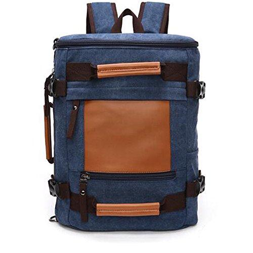 Gendi Unisex Reisen Tasche Gepäck Leinwand Handtasche Sports Duffels Turnbeutel Schule Reisetasche dunkelblau QWulv