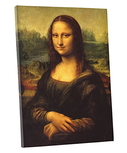 - Niwo Art (TM - Mona Lisa, by Leonardo Davinci, Oil Painting Reproduction - Giclee Wall Art for Home Decor, Gallery Wrapped, Stretched, Framed Ready to Hang (18