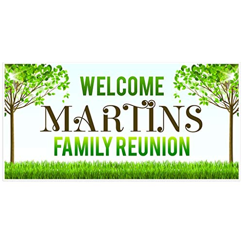 Welcome to Family Reunion Banner Yard Personalized Backdrop Decoration]()