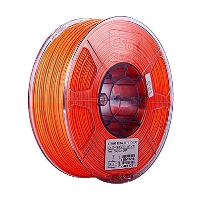 eSUN 3D 1.75mm PETG Solid Orange Filament 1kg (2.2lb), PETG 3D Printer Filament, 1.75mm Solid Opaque Orange