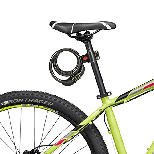 UShake Bike Lock Cable, 6-Feet Bike Cable Basic Self Coiling Resettable Combination Cable Bike Locks with Complimentary Mounting Bracket, 6 Feet x 1/2 Inch by UShake (Image #6)