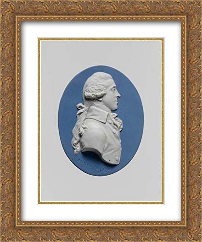 British Culture - 20x24 Gold Ornate Frame and Double Matted Museum Art Print - Cameo Medallion