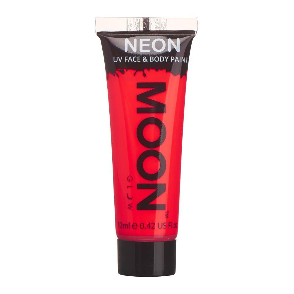 Moon Glow - Colori per viso e corpo intensi effetto neon UV – 12ml Rosso