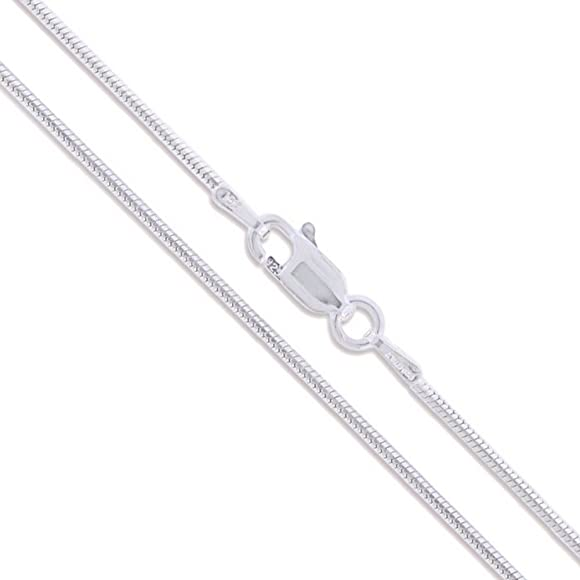 Snake Chain Silver Bracelet With Snap Clasp 2.5 Gauge