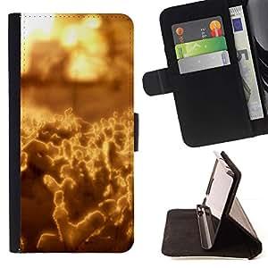 For LG G3 Case , Arte abstracto amarillo- la tarjeta de Crédito Slots PU Funda de cuero Monedero caso cubierta de piel
