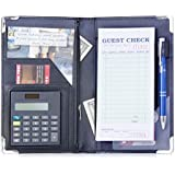 Sonic Server Book Deluxe and Waiter Waitress Organizer with Calculator Built-in for Waitstaff | Battery included and Fully Operational | 9 Pockets with Pen Holder Holds Guest Checks, Money, Order Pad