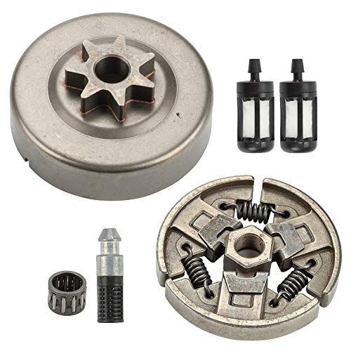 (Wellsking Clutch Drum Sprocket + Clutch Fuel Filter Oil Filter for Stihl MS290 MS310 MS390 029 039 Chainsaw Replace 1125 160)