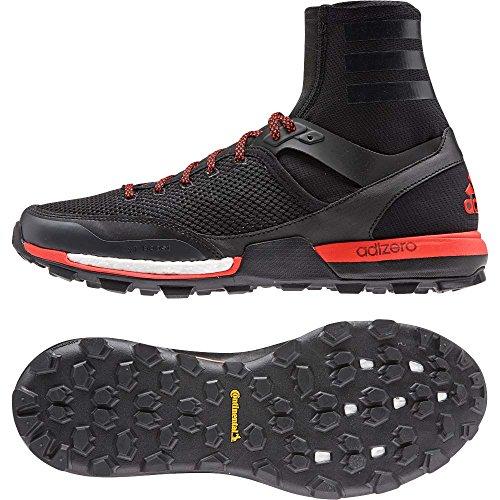 adidas Mens Adizero XT 5 Boost Hiking Shoe,Black/Dark Grey/Solar Red,US 6.5 M Adidas Adizero Xt Trail Shoe