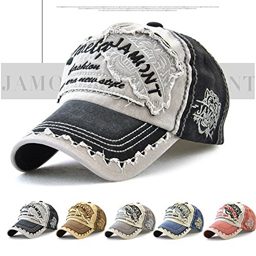 Mujeres Tioamy Hat Cap Gorra para de Algodón Carta Ocio y Fashinable negro Exterior Hombres Ajustable Sombrero Retro Unisex Baseball Cap béisbol rHSHqw8xX