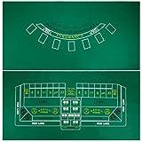 2 Sided Blackjack and Craps Felt Layout - Includes Bonus Deck of Cards!