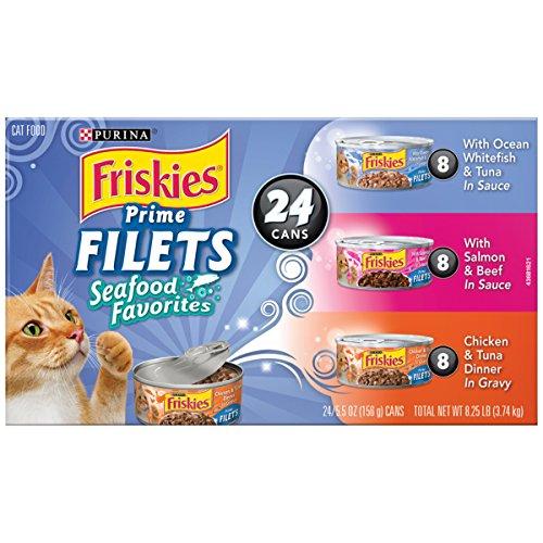 Purina Friskies Prime Filets Seafood Favorites Variety Pack Cat Food - (24) 8.25 lb. Box