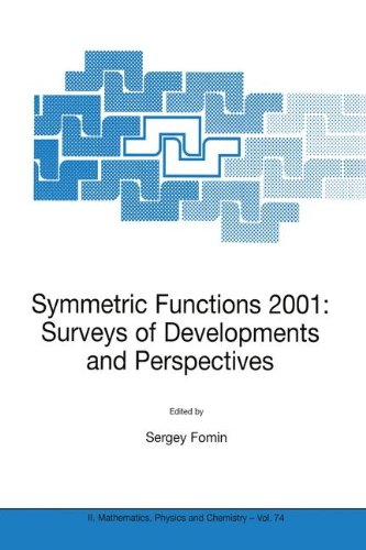 Download Symmetric Functions 2001: Surveys of Developments and Perspectives: Proceedings of the NATO Advanced Study Instutute on Symmetric Functions 2001: ... 25 June–6 July 2001 (Nato Science Series II:) ebook