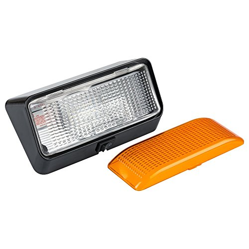Lumitronics RV Porch Utility Lights with Clear & Amber Lenses (with Switch - LED, Black Base) ()