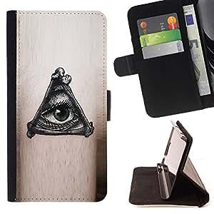- Queen Pattern FOR Sony Xperia Z1 L39 /La identificaci????n del cr????dito ranuras para tarjetas tir????n de la caja Cartera de cuero cubie - mysterious eye black ink free mason