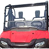 Clearly Tough Honda Pioneer 700 Full Folding -SCRATCH RESISTANT- Windshield. Ultimate side by side versatility! Easy on and off. Quickly go from full to half or off!Premium Hard CoatMade in America!
