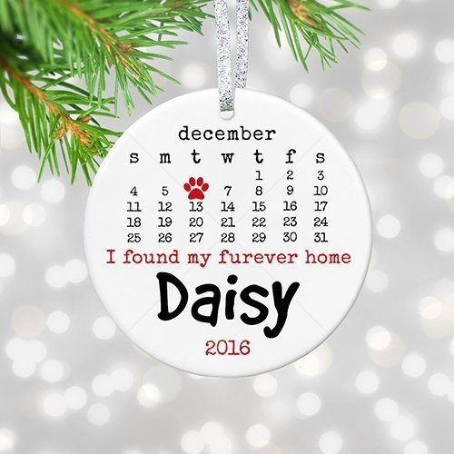 New Dog Gift for Dog Lover, Personalized Pet Christmas Ornament, Puppy or Adoption Forever Home Keepsake - 3