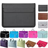 """Premium Soft leather Sleeve Bag Case Stent for 13.3 inch Macbook Air/Pro without CD-ROM and HP Dell Acer Asus Lenovo Ultrabook (without CD-ROM Laptop) (13"""", Black)"""