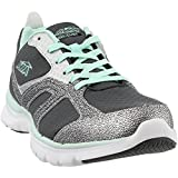 Avia Women's Cube Running Shoe, Steel Grey/Chrome Silver/Sea Green, 11 M US