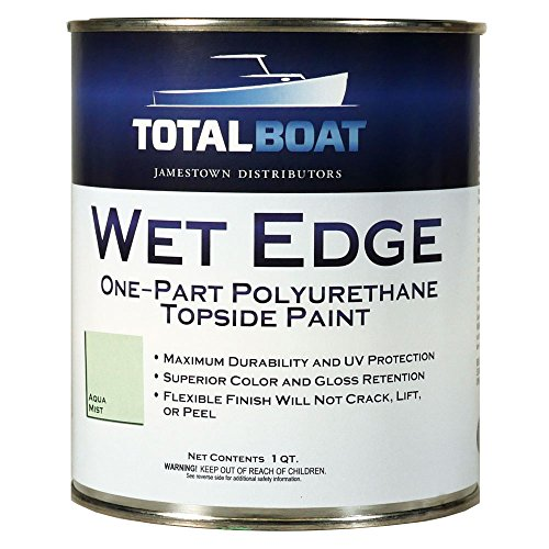 TotalBoat Wet Edge Topside Paint (Aqua Mist, - Gray Mist Finish