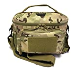 HSD Tactical Lunch Bag - Insulated Cooler, Lunch Box with MOLLE/PALS Webbing, Velcro Strip, Adjustable Padded Shoulder Strap, for Adults and Kids (Multicam)