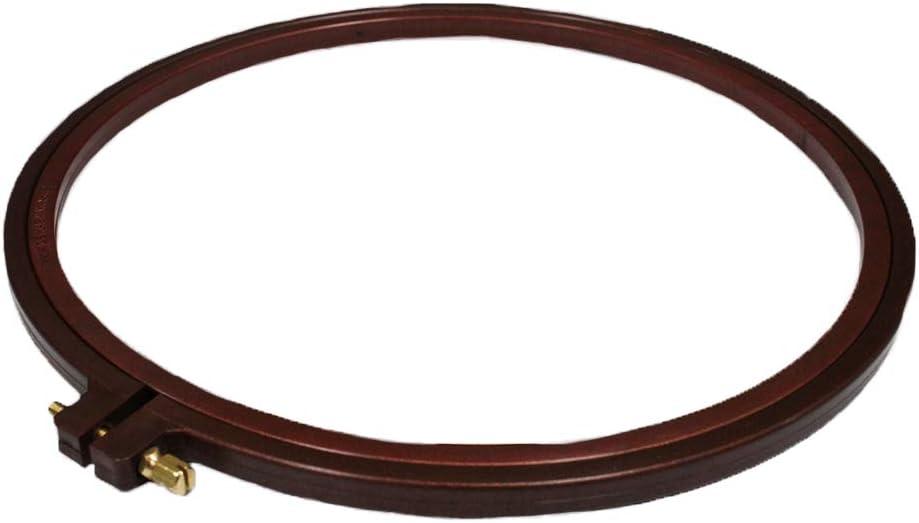 Anillo de bordado de Nurgy 22,8 cm de pl/ástico con efecto de madera para punto de cruz