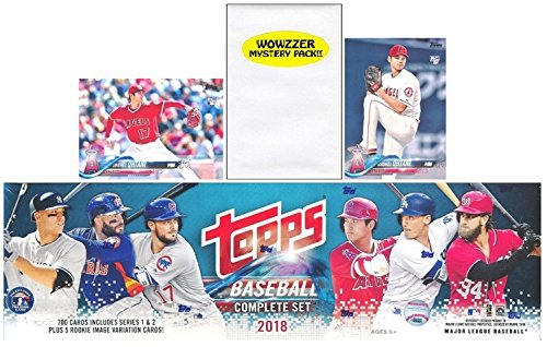 2018 Topps Baseball EXCLUSIVE MASSIVE 707 Card Complete Factory Set with (2) SHOHEI OHTANI ROOKIES & Bonus WOWZZER Mystery Pack with AUTOGRAPH or MEMORABILIA Card! Includes all Series 1 & - Complete Card Sets Baseball